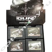 Игровые пистолеты GUN PISTOL MODEL, с пульками, набор 12 шт., оптом