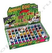 Игрушки из яиц ANIMAL AGG, набор 60 шт., оптом
