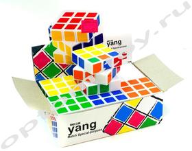 Кубик РУБИКА YANG, набор 6 шт., оптом