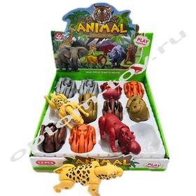 Фигурки диких животных ANIMAL DEFORMED EGG, набор 12 шт., оптом