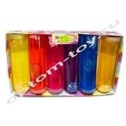 Цветные слаймы с блестками в колбе, в наборе 6 шт., отпом