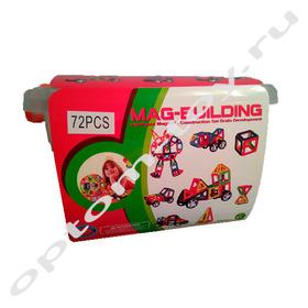 Магнитный конструктор MAG-BUILDING, 72 детали, оптом