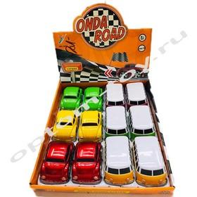 Машинки для мальчиков ONDA ROAD, в наборе 12 шт., оптом