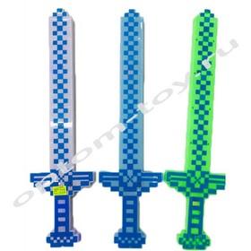 Светящийся пикселный меч, набор 3 шт., оптом
