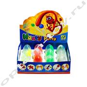 Набор игрушек из яиц - Умный пластилин - Жвачка для рук NAUTY PUTTY, 12 шт., оптом