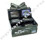 ПИСТОЛЕТ С ПУЛЬКАМИ / GUN PISTOL MODEL, в чемодане, набор 12 шт., оптом