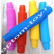 Развивающие игрушки-антистресс POP TUBES, набор 12 шт., оптом