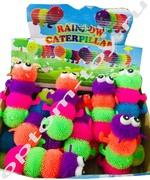 Резиновые игрушки МНОГОНОЖКИ RAINBOW CATERPILLAR, набор 12 шт., оптом
