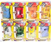 Роботы-трансформеры ЦИФРЫ, набор 15 шт., оптом