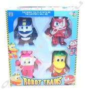 Набор роботов-трансформеров ROBOT TRAINS оптом