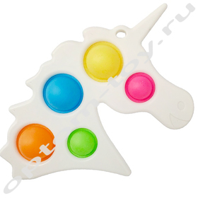 Игрушка-антистресс СИМПЛ ДИМПЛ ЕДИНОРОГ, набор 10 шт., оптом