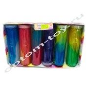 Двухцветные слаймы в колбе, в наборе 6 шт., оптом