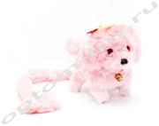 Мягкая игрушка - СОБАКА, розовая, оптом