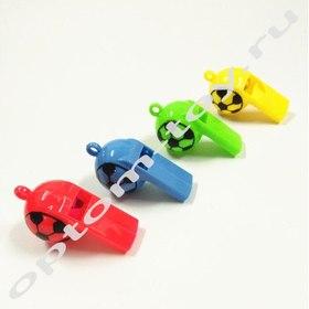Детские свистки для футбола, 3,5 см., без шнурка, 200 наборов по 12 шт., оптом